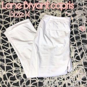 Lane Bryant white capris size 14